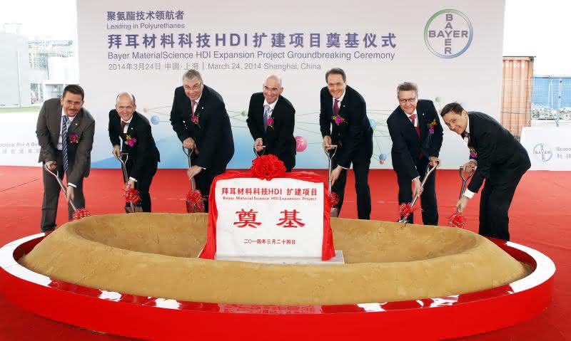 Grundsteinlegung für neue HDI-Anlage in Shanghai: China: Bayer baut Produktion für Lackrohstoffe aus