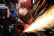 Fächerschleifscheibe: Trägt 1 Kilogramm Stahl in 20 Minuten ab