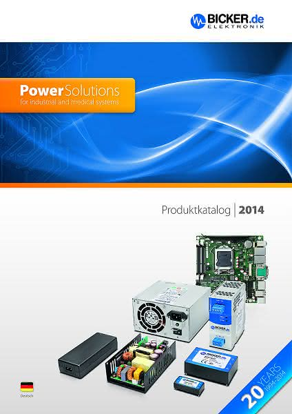 Neuer Stromversorgungskatalog 2014: Power Solutions for industrial and medical systems