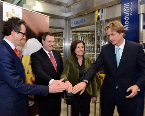 Neue Technik für 15 Millionen Euro: Bitburger nimmt neue Abfüllanlage in Betrieb