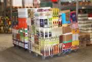 Leichte Palette für die Distribution: Nestbar, aus Kunststoff und im Euromaß