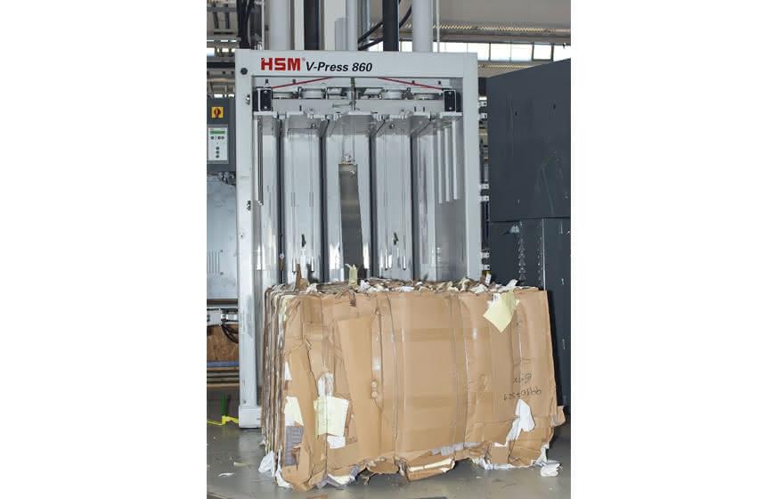 HSM-Pressen: Verpackungskartonagen werden kleingemacht