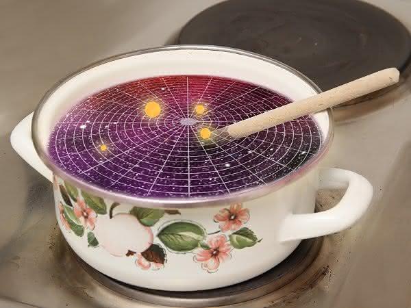 Erhitzen und ein bisschen rühren: Kochrezept für ein Universum