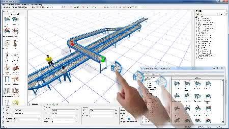 Märkte + Unternehmen: Materialfluss- und Logisitk-Simulation: Version 2014 reagiert auf Fingerzeig