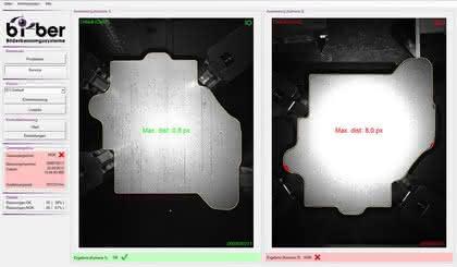 Bildverarbeitungssystem: Konturprüfung für Stanzteile