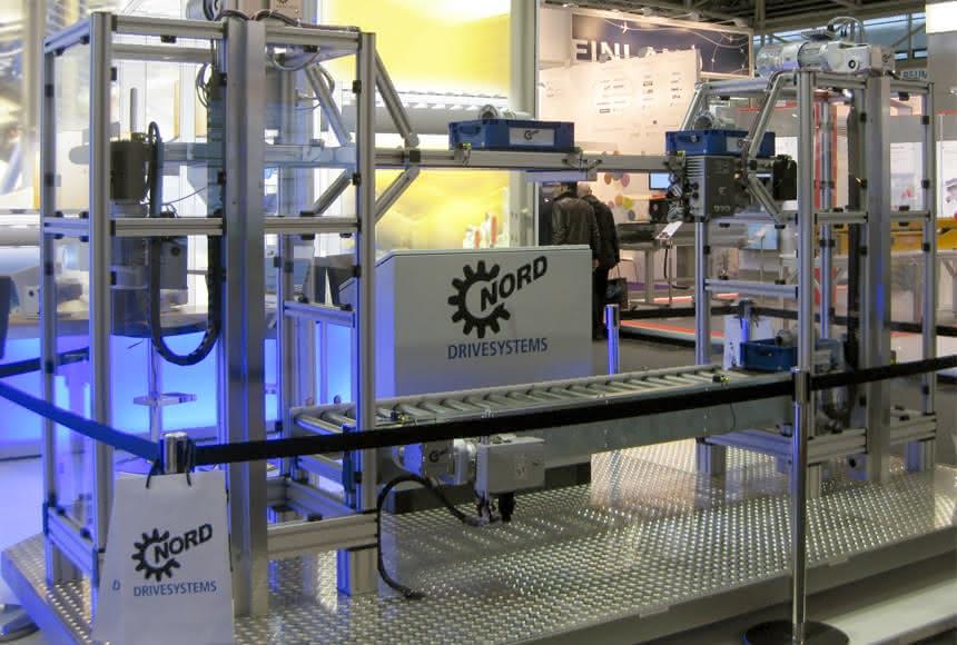 Nord-Antriebskonzept für die Gepäcklogistik: Sanft und synchron
