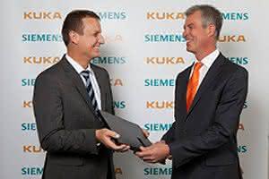 Kooperation vereinbart:: Siemens im Schluss mit Kuka