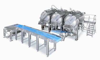 Trommelmotoren für den Transport in der Fleischverarbeitung: Sauber auf das Band