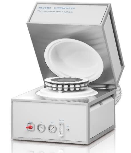 Thermogravimetrischer Analysator: Analyse von bis zu 19 Proben