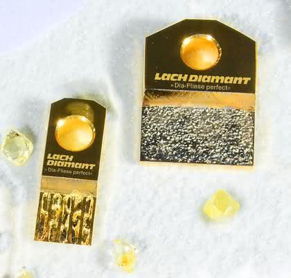 Diamant-Abrichtplatte: Aggregate und Rädchen