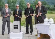 Grundsteinlegung für die neue Werkhalle in Dolné Vestenice