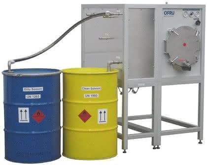 Lösemittel-Destillieranlage: Sauberes Lösemittel
