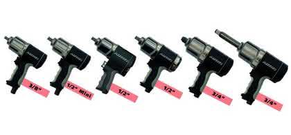 Druckluftschrauber: Sieben Modelle liefebar