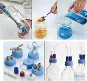 Labortechnik: Weithals-Mediumflaschen und Verschlüsse
