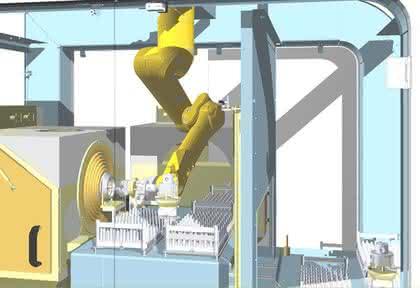 Roboterzelle als automatische Strahlkabine: Ohne Sand im Getriebe