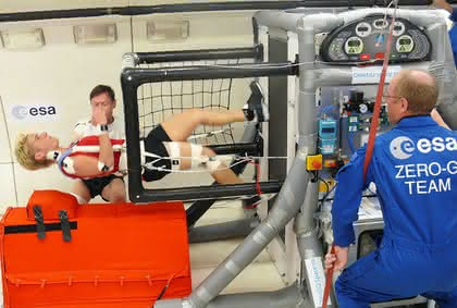 Antrieb von Astronauten-Laufband durch Dämpfer gesichert: Sicher joggen im All