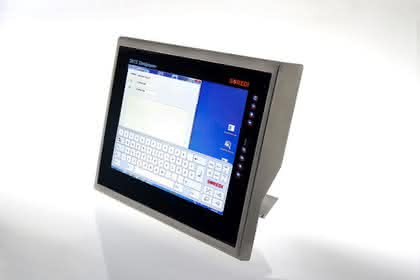 Industrie-Computer: Touch-Panel hinter Panzerglas