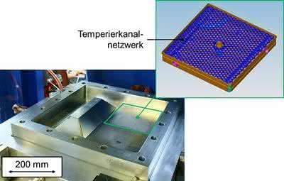Variothermes Werkzeug mit endkonturnahem Temperierkanalnetzwerk