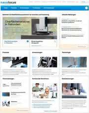 Neuer Internetauftritt: 3D-Oberflächenmesstechnik