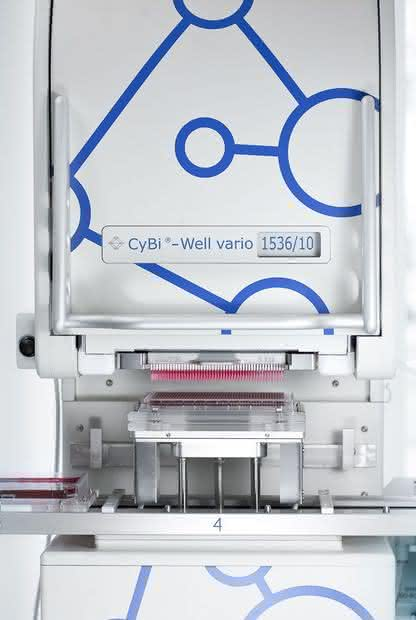 Liquid Handling Plattform CyBi-Well vario: Ultra-High-Throughput-Screening