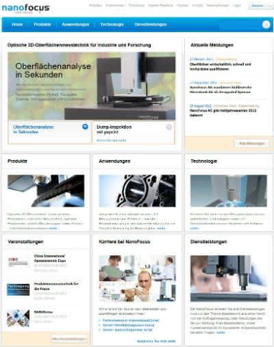 News: NanoFocus AG stellt neuen Internetauftritt vor