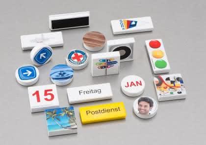 Bedruckte Magnete: Mit Botschaft