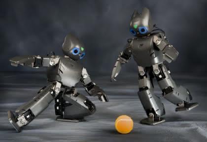 Mini-Roboter für Forschung und Fußball: Beweglich, flink, verspielt