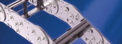 Stahl-Energieführungssysteme für raue Arbeitsumgebungen.: Kette putzt sich selbst