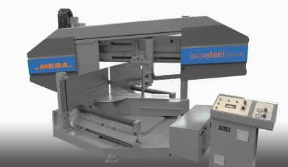 Euroblech: Doppelgehrungsbandsägen für den Stahlbau