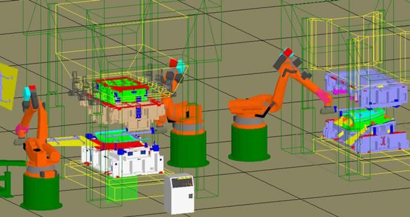 Simulation des Platinen- und Teilehandlings für effizientere Umformprozesse in der Automobilwirtschaft: Werkzeugtransfer im Griff