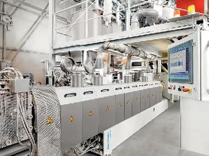 Zweischneckenextruder ZE-UT-R: Extruder für hochgefüllte Masterbatch-Compounds