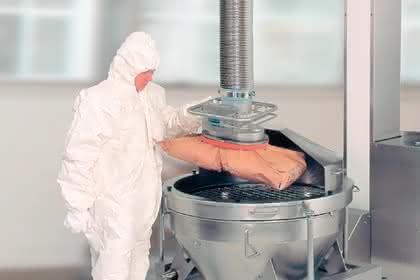 Vakuum-Schlauchheber für den Ex-Schutz-Bereich: Ex-Schutz-Vakuum-Schlauchheber: Säcke heben ohne Zündung