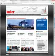 News: Huber mit neuer Website