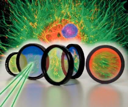 Mikroskopie: Optische Filter für Fluoreszenzanalytik