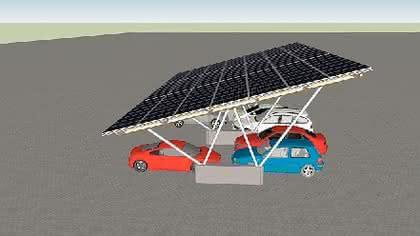 Solar-Carport-System PV-Line: Sonnen-Parkplatz