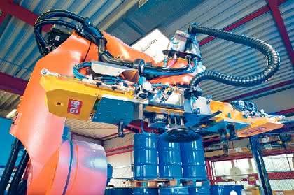 Multifunktionsgreifer für Roboterarm: Packt die Pulver-Fässer