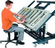 Montagetisch: Schnellspanner am Arbeitsplatz