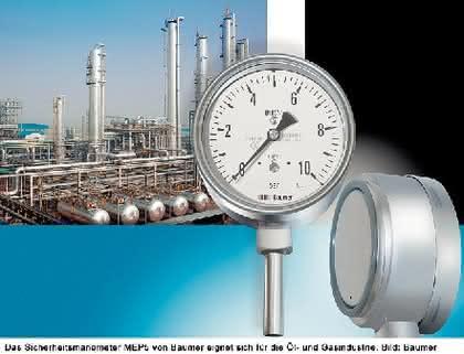 Sicherheitsmanometer: Für aggressive Gase  und Flüssigkeiten
