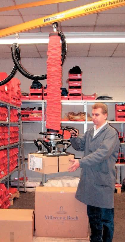 Vakuumheber und Vakuum-Lasttraversen: Mit Unterdruck