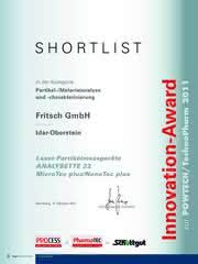 News: Der 4. Innovation-Award für FRITSCH