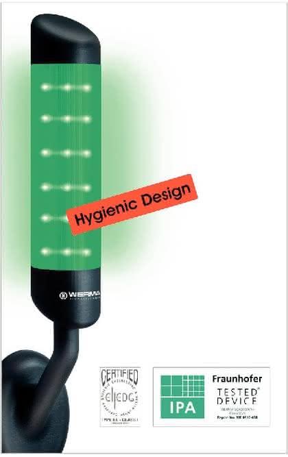 LED-Signalleuchte: Hygienic Design