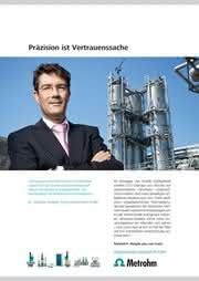 News: Weltweit vertrauen führende Unternehmen der Marke Metrohm