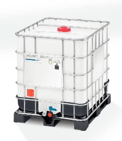 Grüne Werkstoffe: Vollkunststoffpalette  aus Recyclat für IBCs