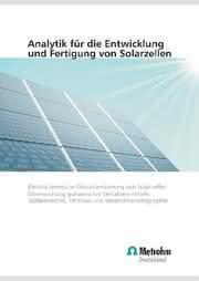 Broschüre Solarzellen-Analytik: QS in der Solarzellenfertigung
