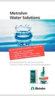 IC-Komplettpakete: IC-Lösungen für die Wasseranalytik
