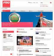 Neue Website: PSG mit mehr Infos  im Netz