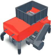 Zerkleinerung, Recycling: Shredder mit Druck