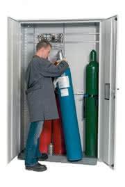 Druckgasflaschenschränke für den Außenbereich: Druckgasflaschen im Außenbereich