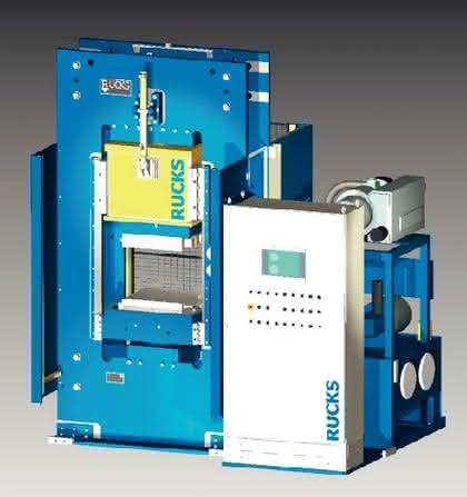 Vakuumpresse bis 450 Grad: Vakuumkammer-Presse für lange Presszeiten  bei 450 Grad Celsius
