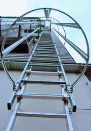 Steigleiter: Wenn ein Gebäude fertig ist